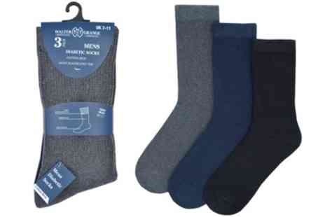 Groupon Goods Global GmbH - Three or Six Pairs of Mens Diabetic Socks - Save 0%