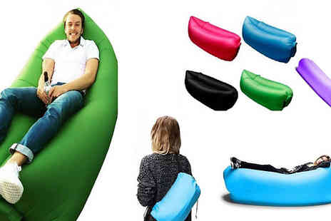 Secret Plums - Inflatable Sofa Air Bed Choose from Five Colours - Save 71%
