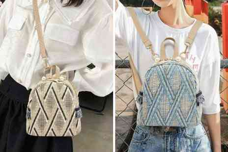 BacktoGoo - Boho inspired backpack choose from three colours - Save 77%