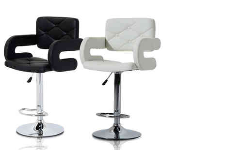 Mhstar - Stylish bar stool choose from two styles and two colours - Save 53%