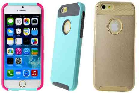 Groupon Goods Global GmbH - Hybrid Hard Case for iPhone 6 or 6 Plus in Choice of Colour - Save 0%