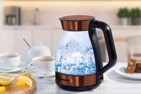 Groupon Goods Global GmbH - Daewoo SDA1254 Copper Effect Glass Kettle - Save 0%