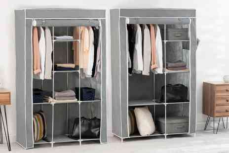 Groupon Goods Global GmbH - Large or Triple Section Canvas Wardrobes - Save 0%