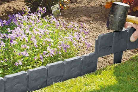 Aha Trading - Cobble Stone Effect Edging Choose from 2.5m, 5m, 10m or 20m Long - Save 88%
