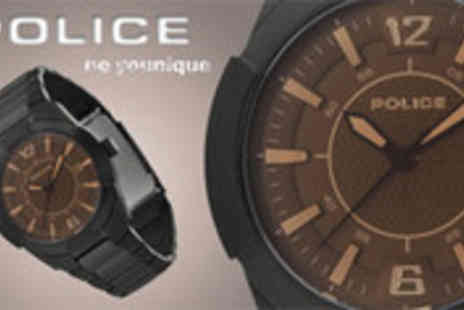 Watch Warehouse - Gents Police watch - Save 61%