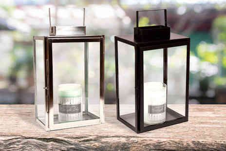 Dream Price Direct - Pair of large metal frame lanterns choose from two colours - Save 53%