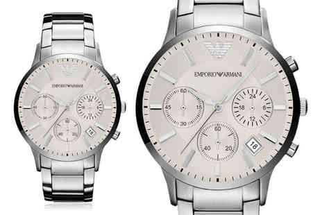 Cheap Designer Watches - Emporio Armani mens stainless steel chronograph watch - Save 51%
