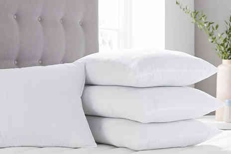 Direct Warehouse - Pack of four breathable cotton pillows - Save 75%