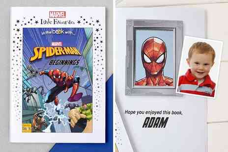In The Book - Personalised Marvel Spider Man story book - Save 50%