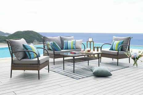 UK Furniture Zone - Four seater rattan lounge set - Save 59%