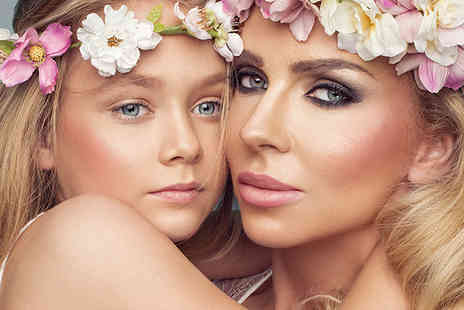 Flawless Studios - Mother and daughter makeover photoshoot using MAC products with two 7 Inch x 5 Inch prints, Prosecco, a £50 gift voucher and chocolates for Mum - Save 82%
