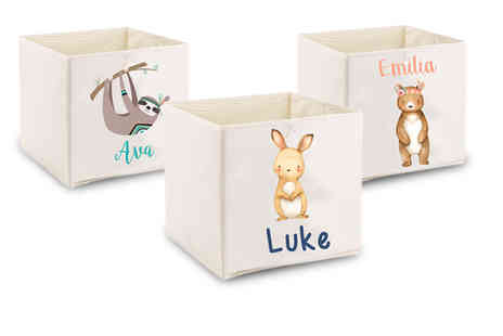 Your Perfect Canvas - Kids personalised storage box - Save 58%
