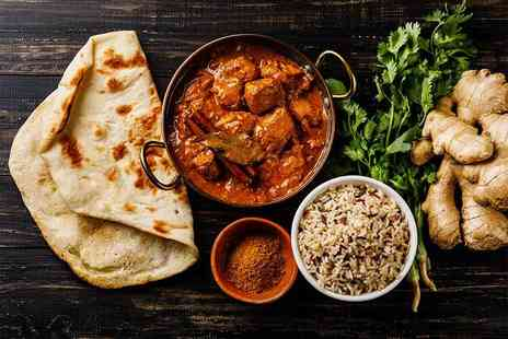 Bombay Lounge - Two course Indian dining for two people including starters, mains, two rice or naan dishes and one sharer with a beer each - Save 49%