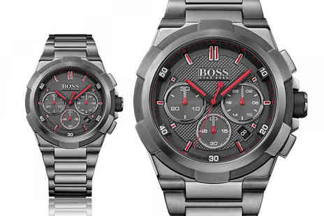 The Best Watch Shop - Hugo Boss mens grey supernova chronograph watch - Save 69%