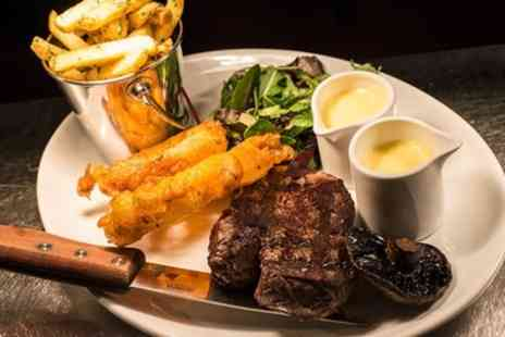 The Spotted Dog - Steak Meal with Side for Two or Four - Save 56%