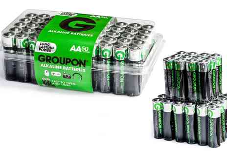 Groupon Goods Global GmbH - 50 or 100 Pack of Groupon Ultra Energy Alkaline Type AA and AAA Long Lasting Power Batteries - Save 0%
