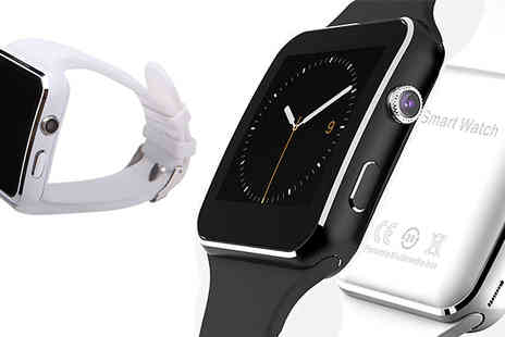 Domo Secret - X6 Apple And Android Compatible Smart Watch Choose from Two Colours - Save 78%
