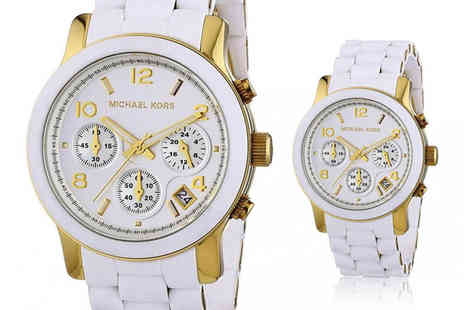 Cheap Designer Watches - Michael Kors MK5145 Ladies Runway white watch - Save 58%