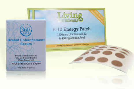 Seatedtoad - Two month supply of B-12 patches and a bottle of breast enhancement serum - Save 91%