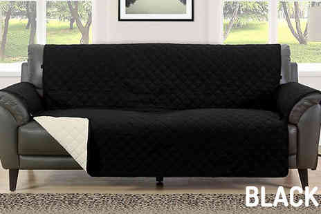 Bag a Bargain - Quilted Sofa Furniture Water Resistant Protector Choose from Eight Colours And Three Sizes - Save 75%