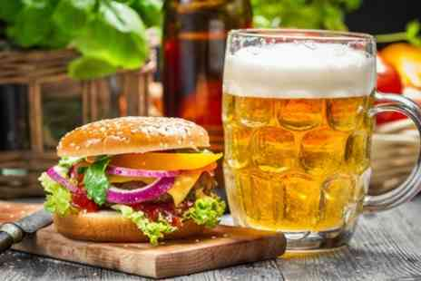 Manhattan Bar & Grill - Burger with Dessert and Drink for Two or Four - Save 57%