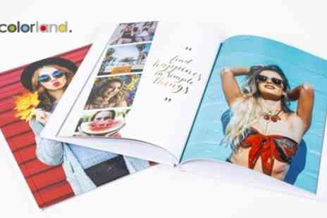 Colorland - Up to Five Personalised Hardcover A4 Photobooks with Up to 60 Pages - Save 84%