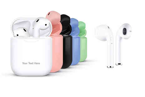 Magic Trend - Pair of next gen Apple Compatible i10 Bluetooth earbuds with engraved case - Save 75%