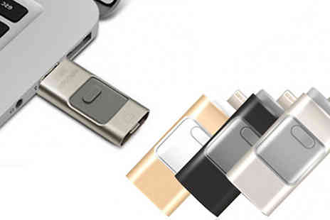 SecretStorz - 16, 32 or 64GB iFlash Drive for iPhone & iPad Choose from 3 Colours - Save 86%