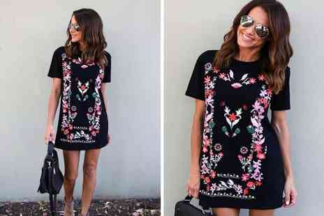 Pinkpree - Floral tunic dress - Save 55%