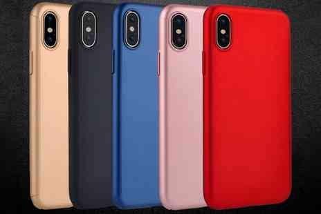 Groupon Goods Global GmbH - Smartphone Case with Tempered Glass for iPhone 6, 6 Plus, 7, 8, 7 Plus or 9 Plus, X/Xs, Xr or Xs Max - Save 0%