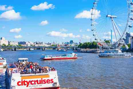 City Cruises PLC - 24 hour hop on, hop off Thames river cruise ticket - Save 44%