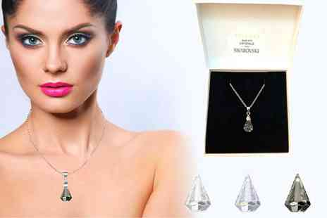 Taylors Jewellery - Pendant drop necklace made with crystal from Swarovski choose from three colours - Save 82%