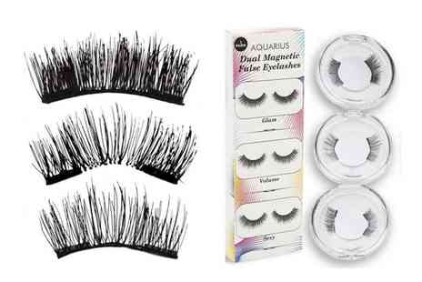 Avant Garde Brands - Three pack of magnetic false eyelashes - Save 70%