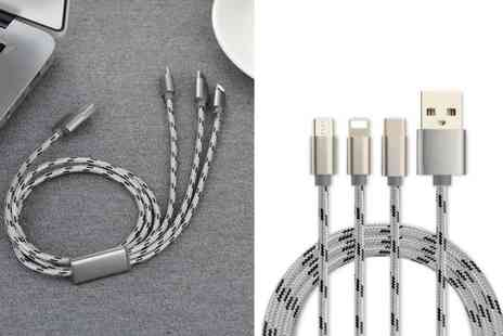 Suzhou Dashijie Electronics Co - Three in one micro Usb and lightning charging cable - Save 85%