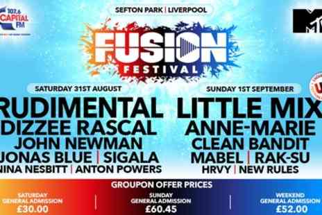 Fusion Festival 2019 - One day or weekend general admission ticket with Little Mix & Rudimental from 31st August To 1st September - Save 50%