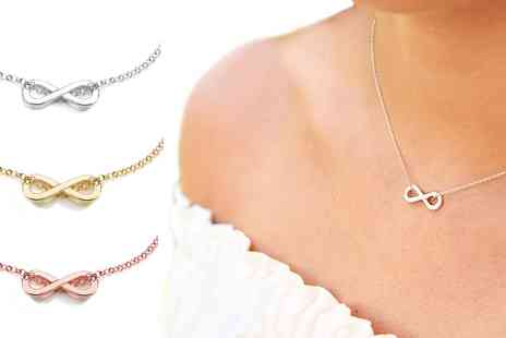 Groupon Goods Global GmbH - One, Two or Three Ah Jewellery Infinity Necklaces - Save 0%