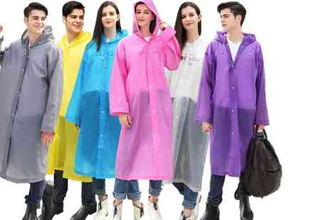 hey4beauty - EVA Hooded Raincoat Choose from 6 Colours - Save 75%