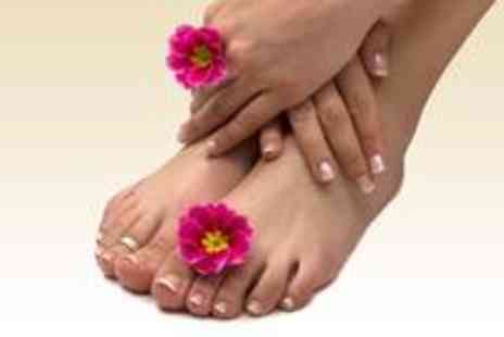 Emiras Nail and Beauty Parlour - Shellac pedicure, Shellac manicure, full body exfoliation and a green tea facial - Save 78%