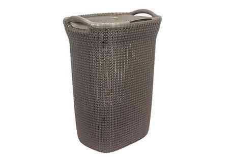 Dream Price Direct - Curver Knit 57 litre laundry hamper choose from brown or white - Save 48%