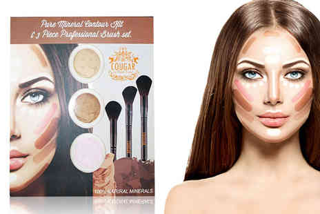 Cougar Beauty Products - Six piece mineral makeup contour kit - Save 0%