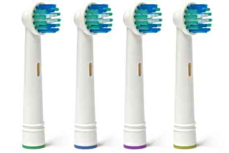 Groupon Goods Global GmbH - 4, 8, 12 or 16 OralB Compatible Replacement Toothbrush Heads - Save 0%