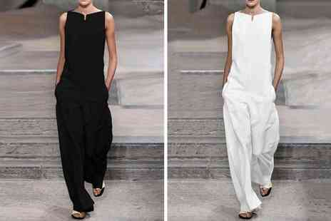 Litnfleek - Wide leg jumpsuit choose from four colours - Save 65%