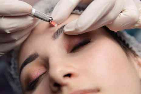 The Face Base - Eyebrow Microblading with Optional Top Up - Save 57%