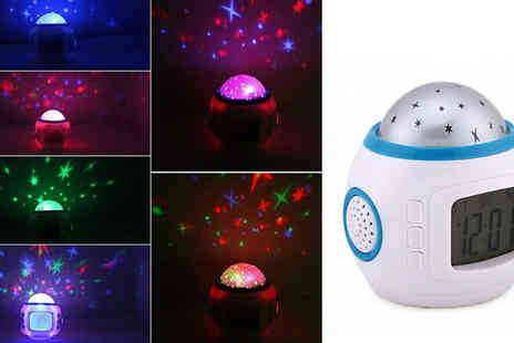 WowWhatWho - Starry Sky Musical Led Alarm Clock - Save 77%