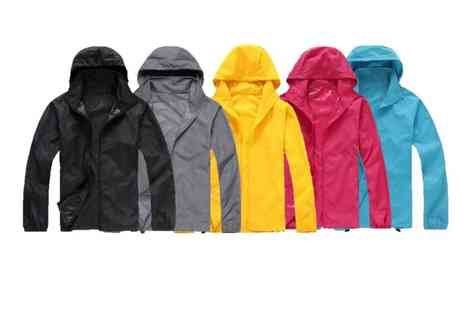 hey4beauty - Waterproof Oversized Packable Raincoat choose from 10 Colours - Save 60%