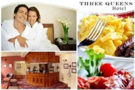 Three Queens Hotel - In Burton on Trent Two Night Stay For Two With Dinner and Breakfast - Save 55%