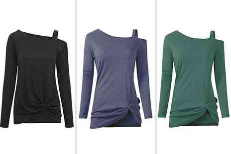 Spezzeee - One shoulder long sleeve top - Save 65%