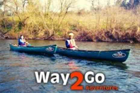 Way2Go Adventures - Wye Valley Canoe Trip For One - Save 65%