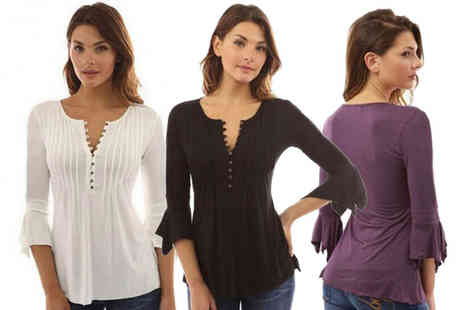 MBLogic - Casual trumpet blouse - Save 77%