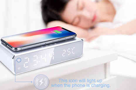 Bag A Bargain - 2 in 1 Led Alarm & Wireless Charging Station - Save 82%